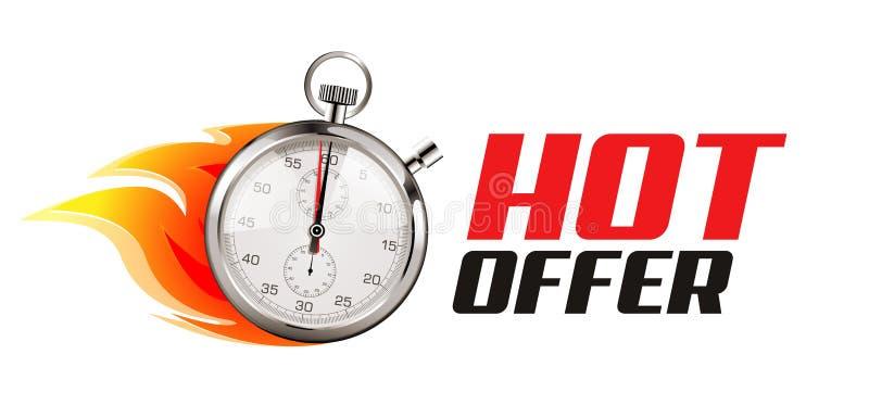 Plus rapidement - concept d'affaires - le temps fonctionne illustration de vecteur