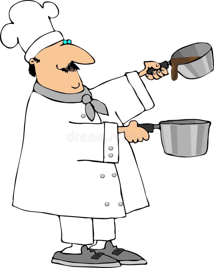 Plus saucier illustration stock