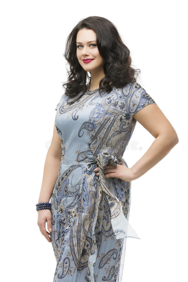 Plus size model in dress stock image. Image of female ...