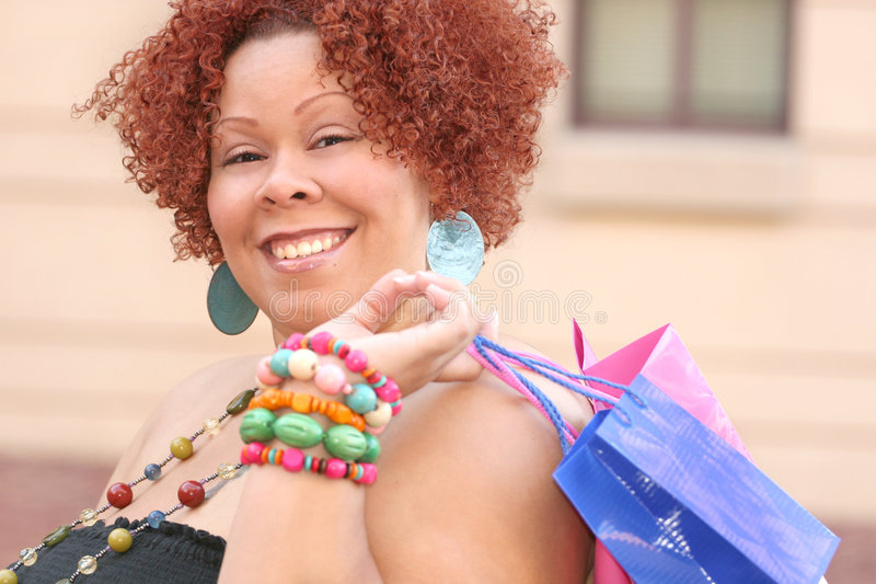 Download Plus Size Model Shopping, Happy Stock Photo - Image: 6413028
