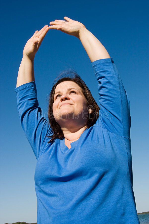 Download Plus Sized Fitness - Praise Stock Image - Image: 4445827