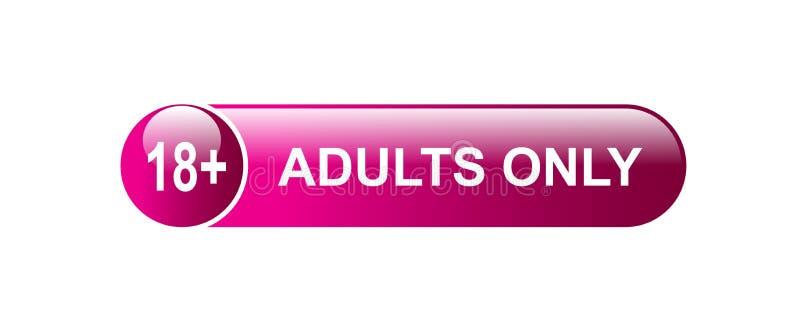 18 plus slechts volwassenen royalty-vrije illustratie