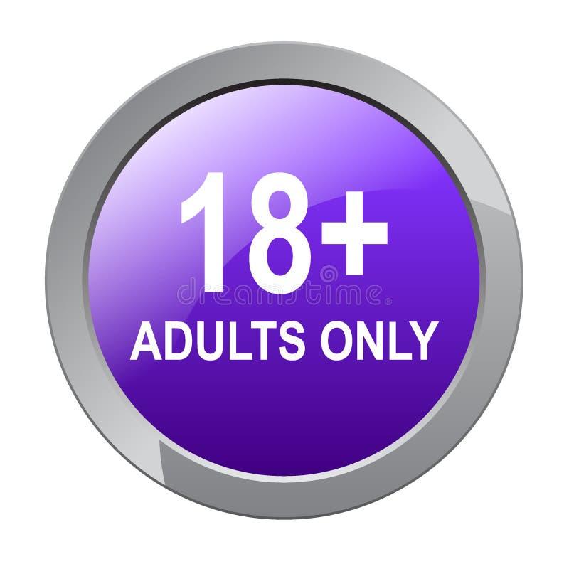 18 plus slechts volwassenen vector illustratie