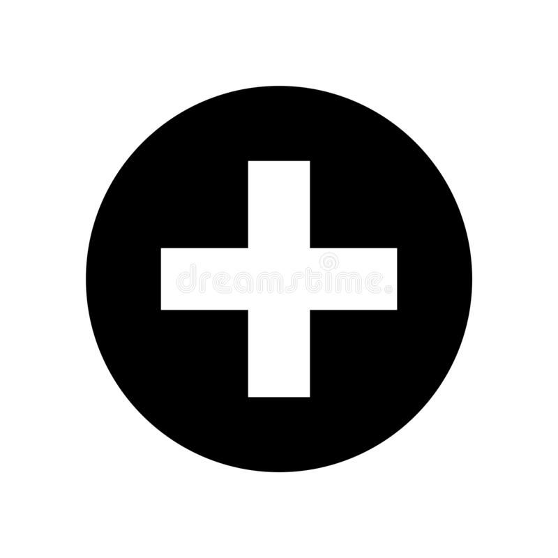 Plus symbol stock illustrationer