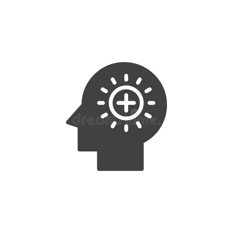 Plus tekens in menselijk hoofd vectorpictogram vector illustratie