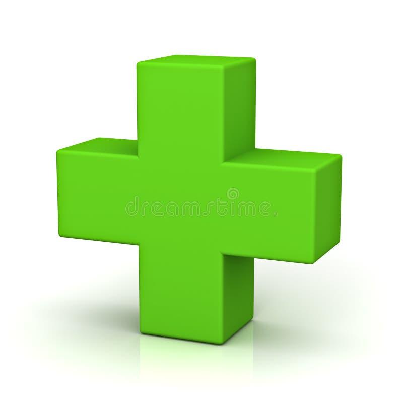 Plus vert sur le fond blanc avec la réflexion illustration de vecteur