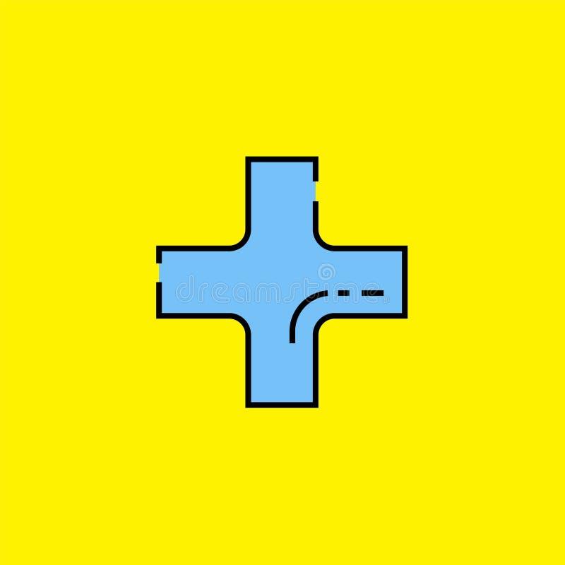 Plus voeg het pictogram van de symboollijn toe stock illustratie