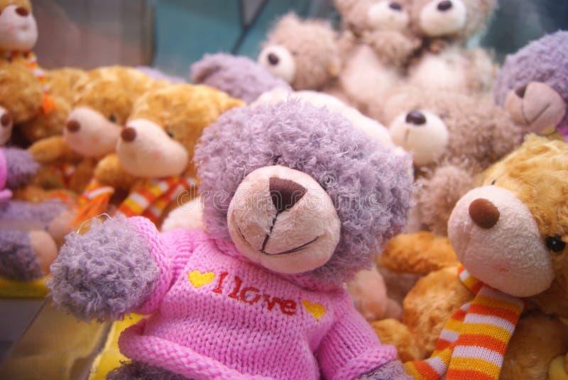 Plush animal toy. Little bear, little monkey, very cute royalty free stock photos