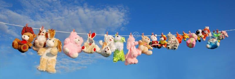 Plush animals royalty free stock images