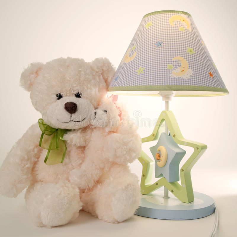 Download Plush bear and lamp stock photo. Image of shade, childhood - 12865678
