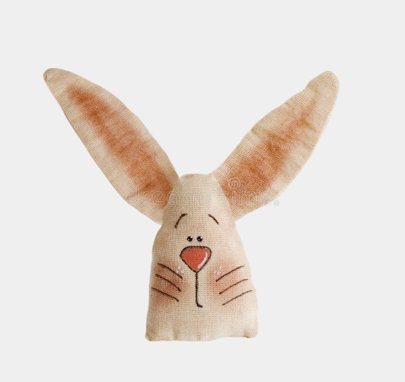 Plush bunnie1. Hand made plush bunnie natural color stock photos