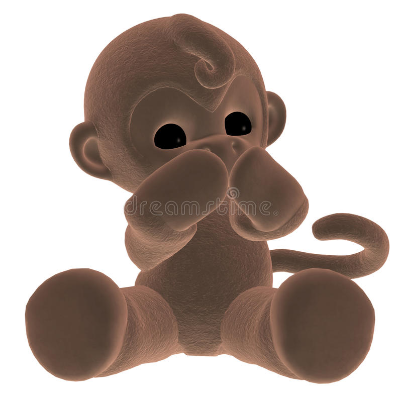 Download Plush monkey stock illustration. Illustration of isolated - 17646083