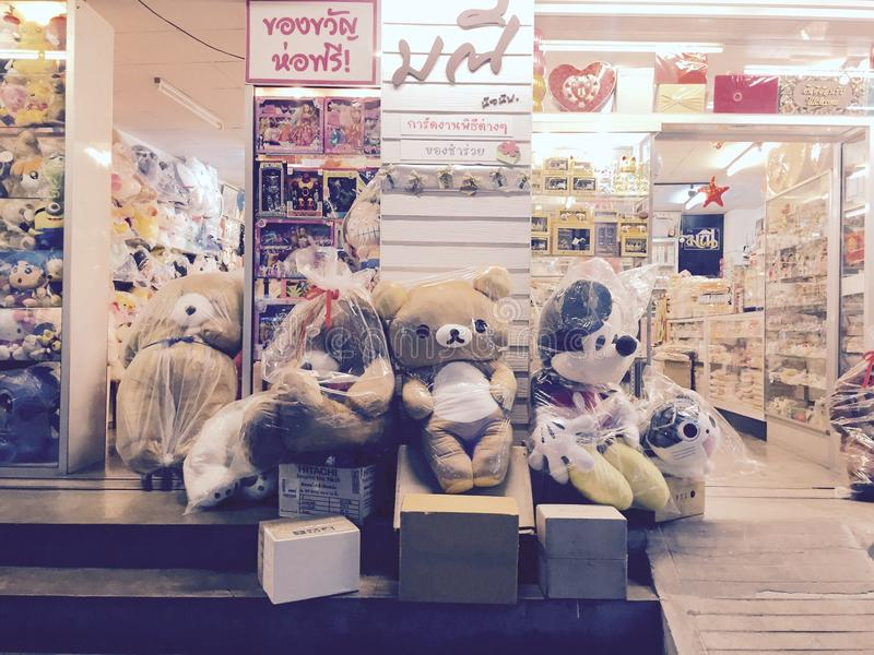 Plush toys for sale royalty free stock image