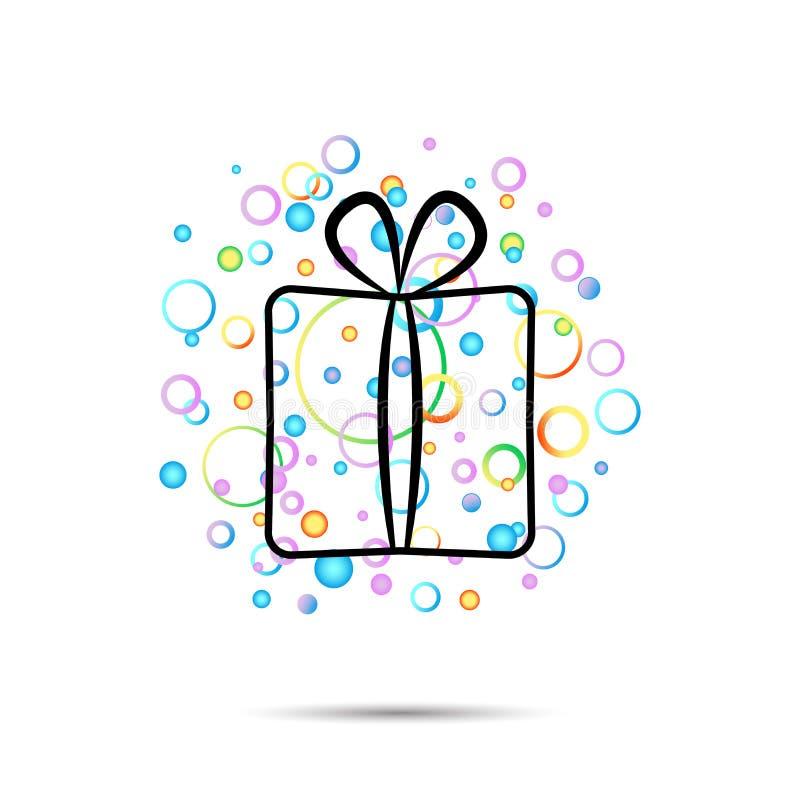 Plusieurs cadeaux, différentes couleurs, effet superbe ensemble stupéfiant de cadeau, cadeau émotif de plaisir, idées peu commune illustration libre de droits