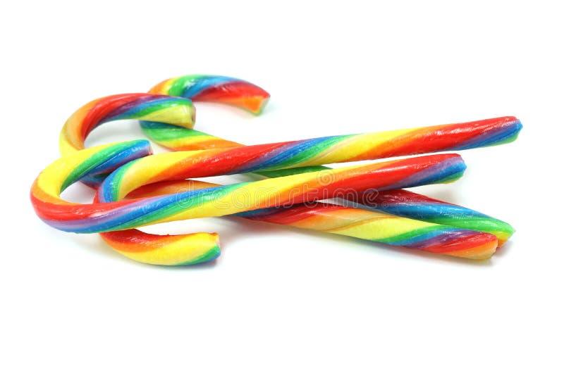Plusieurs de sucer les sucreries colorées par sucrerie photos libres de droits