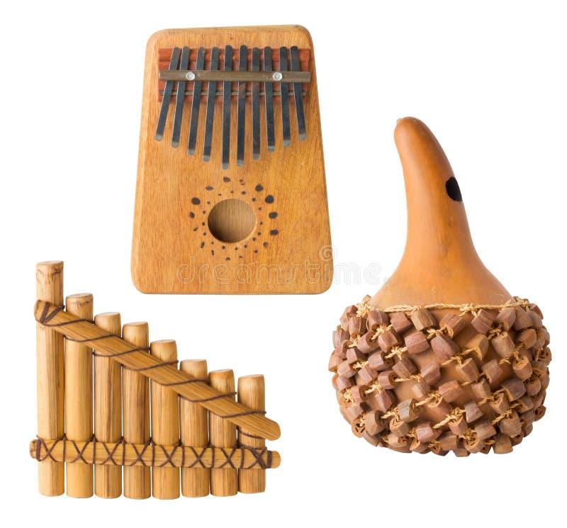 Plusieurs instruments musicaux, d'isolement image libre de droits