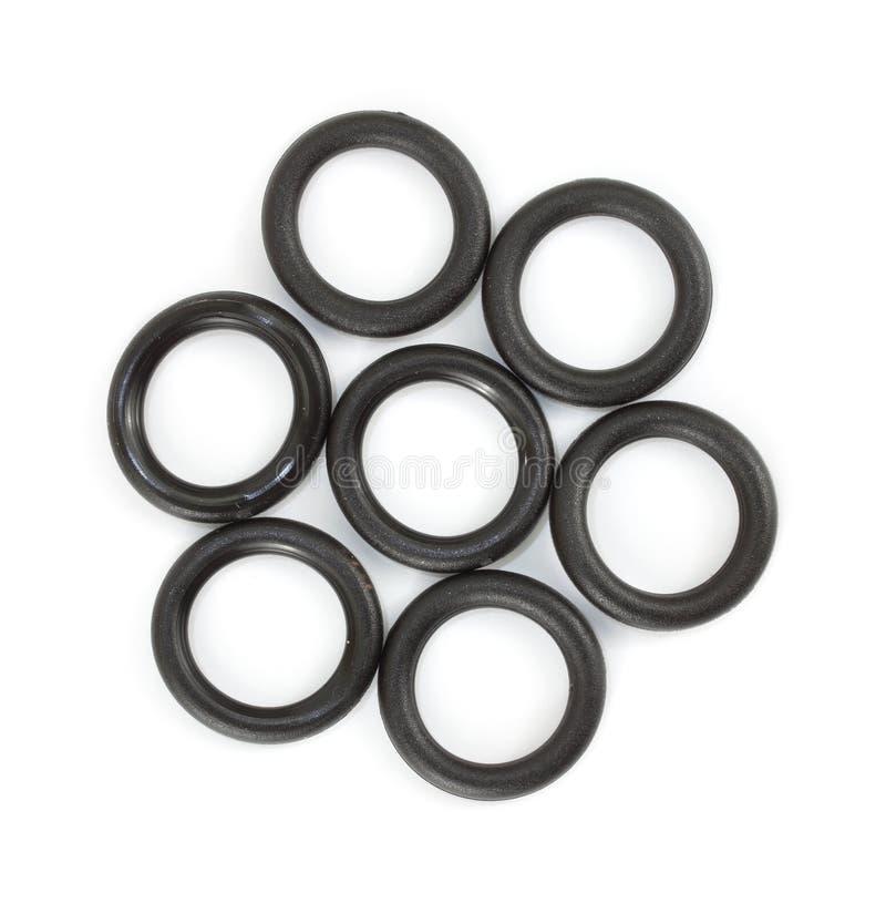 Plusieurs rondelles plates de joint circulaire pour le boyau de jardin photo stock