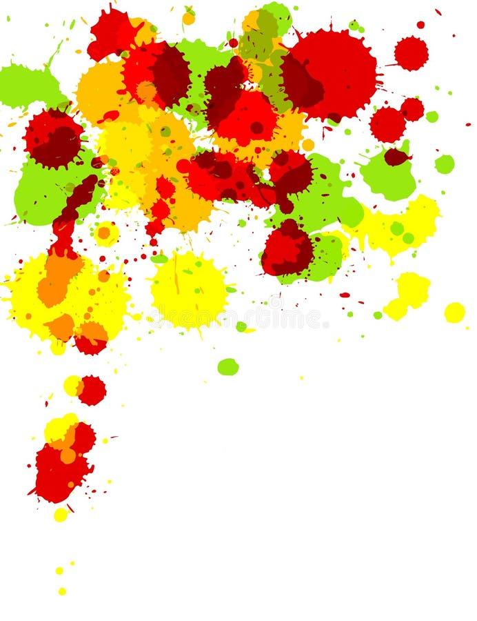 plusk farby ilustracja wektor