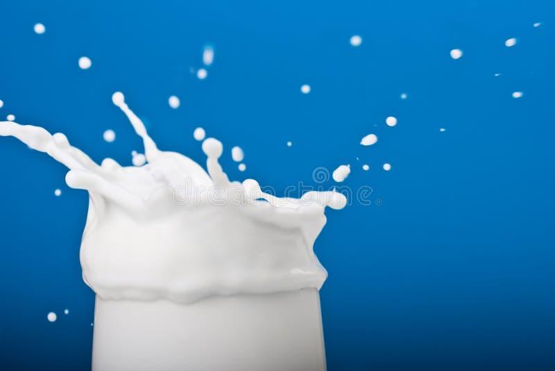 plusk mleka zdjęcie stock