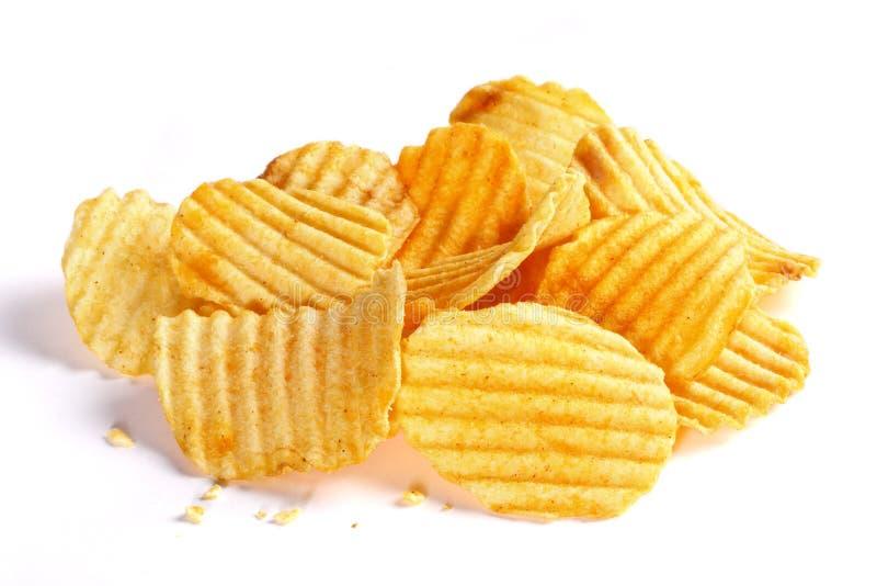 pluskoczącej chip ziemniaka zdjęcia stock