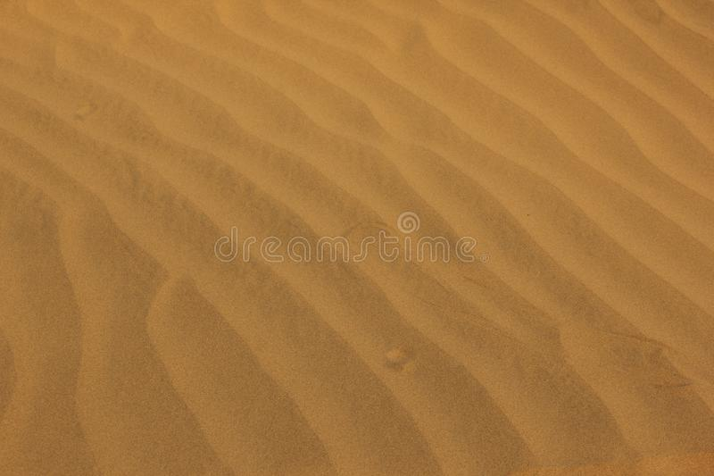 Pluskocz?cy piasek w pustyni obrazy stock