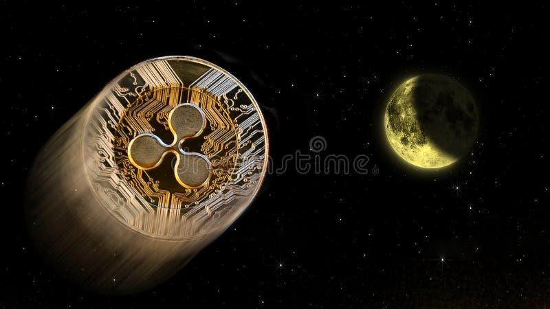 Pluskocze crypto księżyc, konceptualny handel środek wybuchowy wewnątrz zdjęcia royalty free