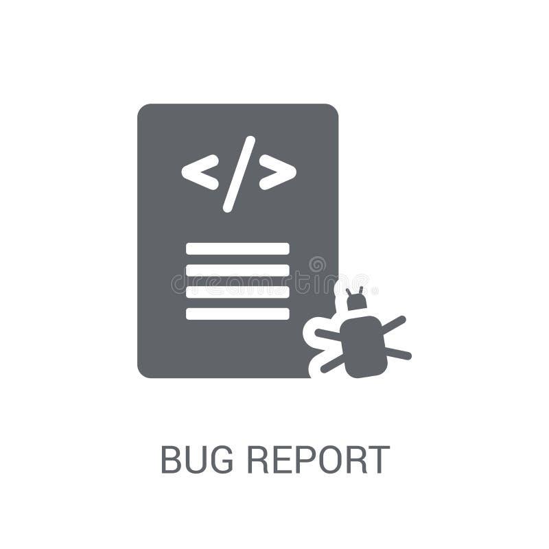 Pluskwa raportu ikona  ilustracja wektor