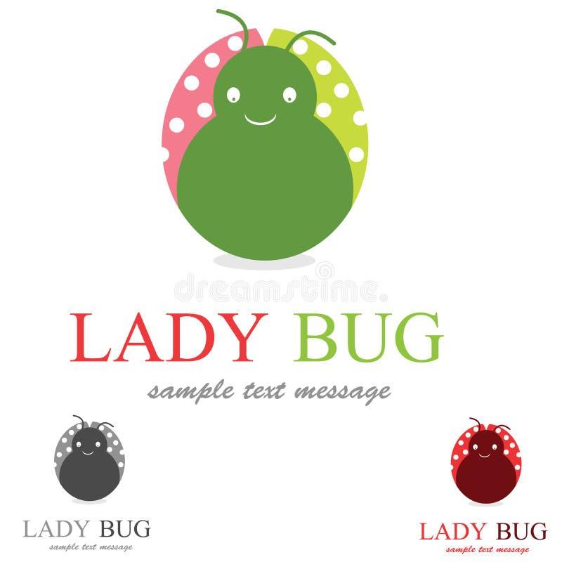 pluskwy damy logo royalty ilustracja