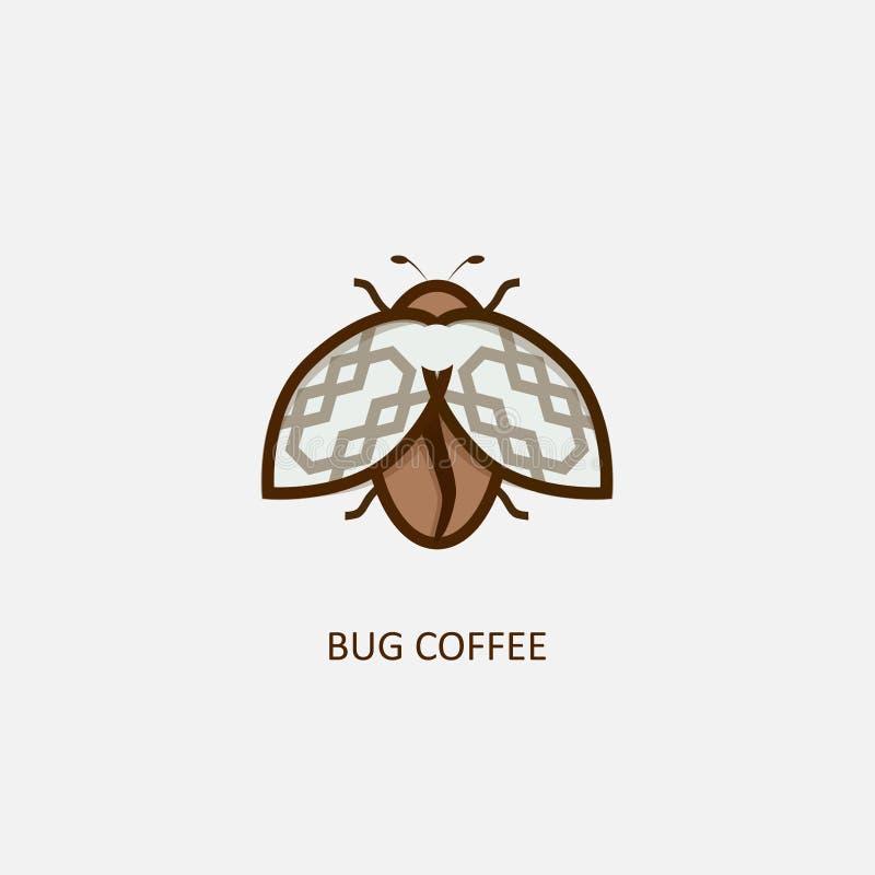 Pluskwy kawa ilustracja wektor