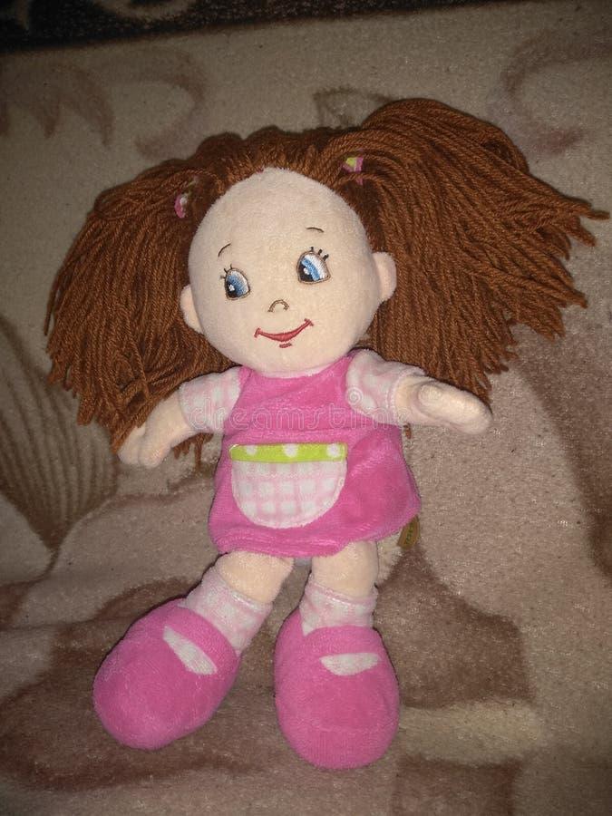 pluszowa lala w różowej sukni zdjęcie stock