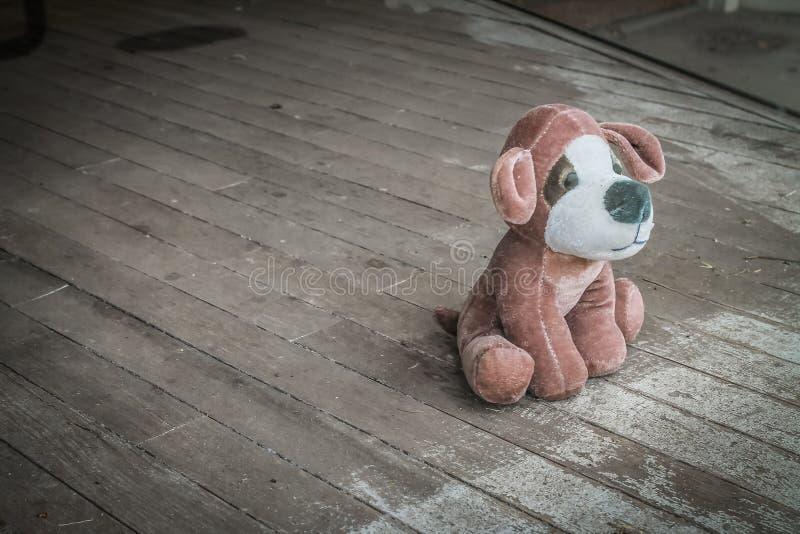 Pluszowy Zabawkarski pies Porzucający obraz stock