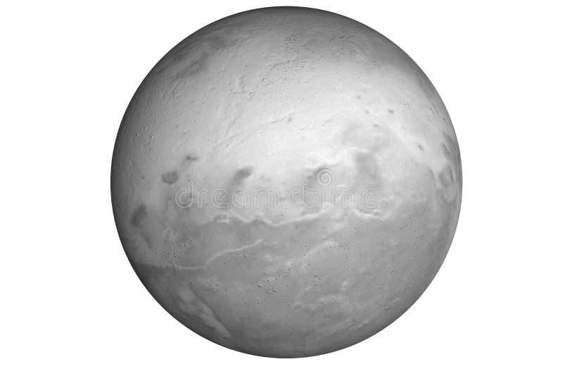 Plutão cinzento do planeta da rocha ilustração do vetor