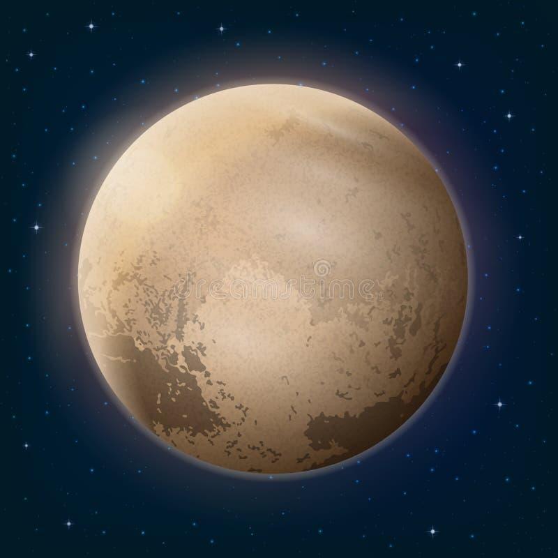 Plutão do planeta do anão no espaço ilustração royalty free