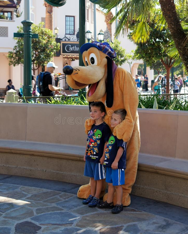 Pluto at California Adventure royalty free stock photo
