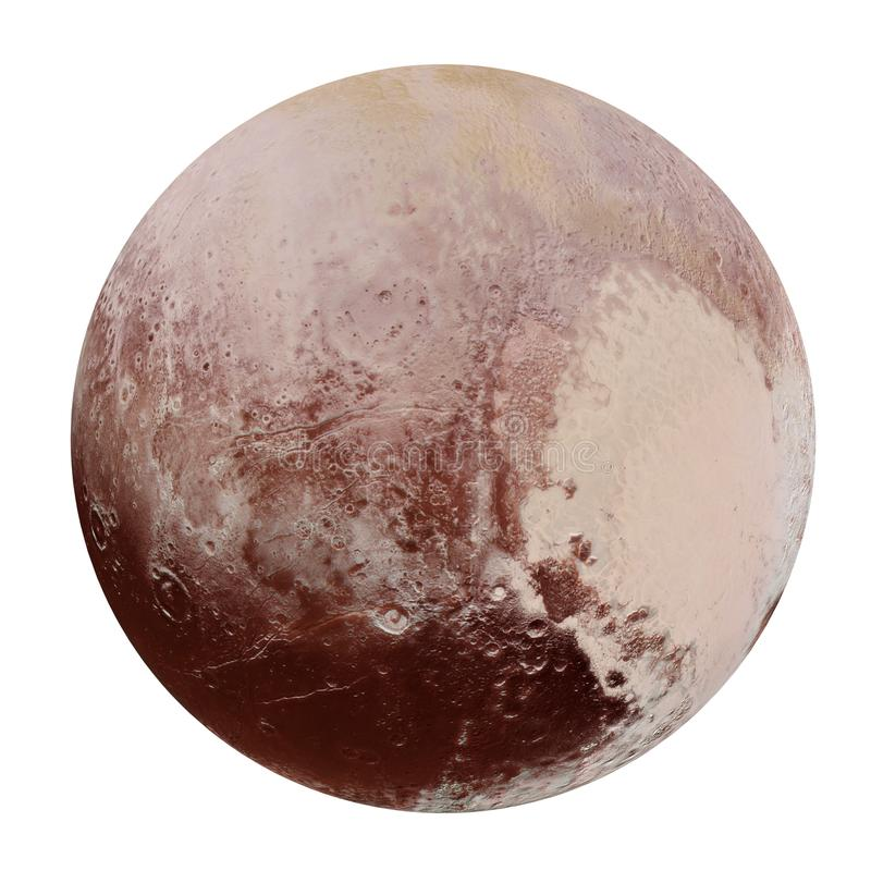Pluto - het hemellichaam in het zonnestelsel, het 3d teruggeven, elementen van dit die beeld door NASA wordt geleverd stock illustratie