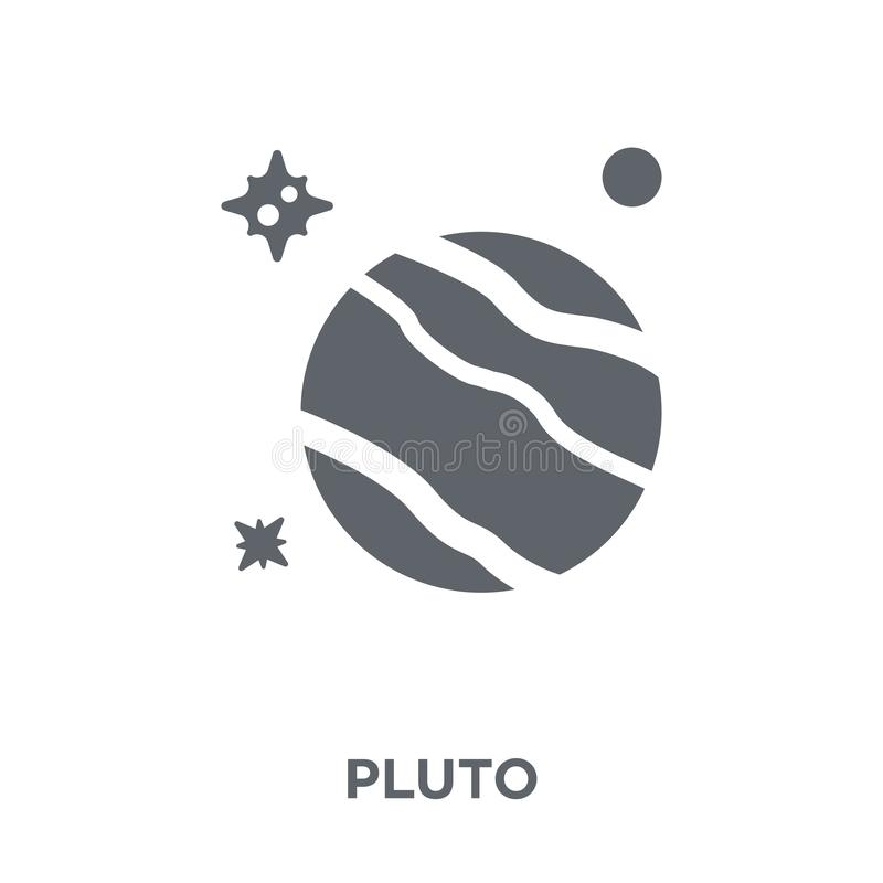 Pluto icon from Astronomy collection. stock illustration