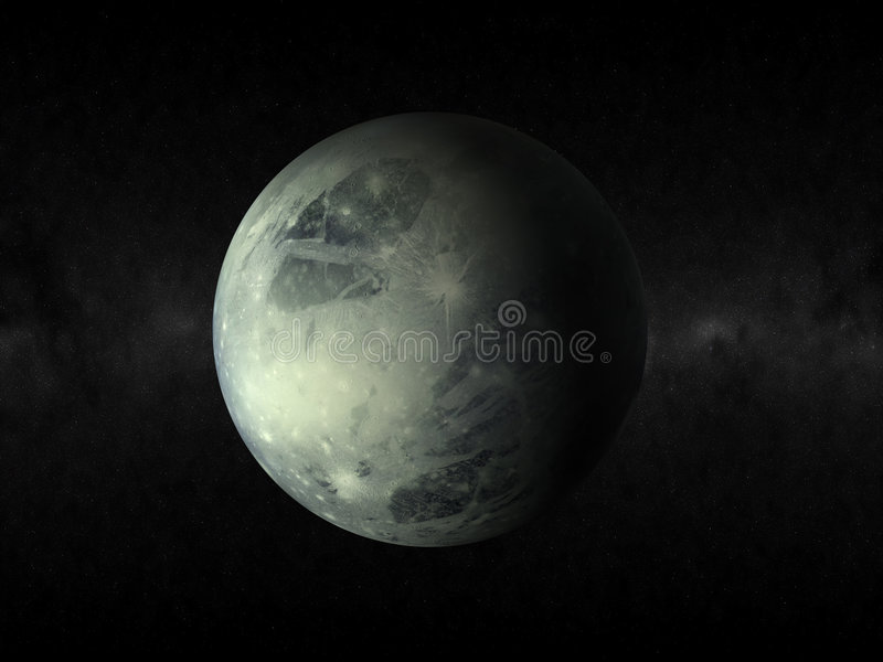 Pluto planet stock illustration