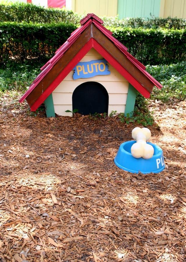 Pluto's dog house. In Disney Magic Kingdom, Orlando Florida stock photo