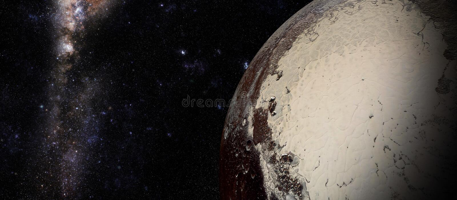 The Pluto shot from space vector illustration