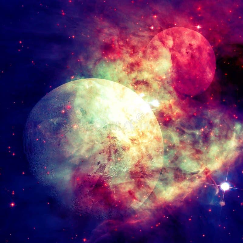 Pluton est une planète naine dans la ceinture de Kuiper, un anneau des corps au delà de Neptune images stock