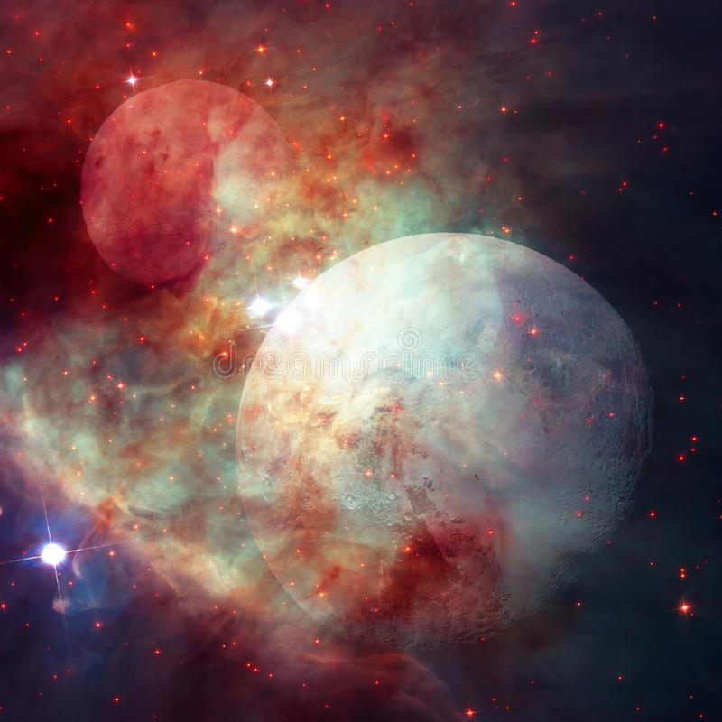 Pluton jest planetą w Kuiper pasku Elementy ten wizerunek meblujący NASA ilustracji