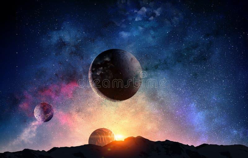 Pluton planeta Mieszani środki obrazy royalty free