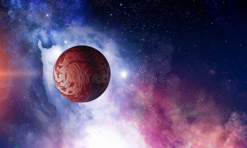 Pluton planeta Mieszani środki zdjęcia royalty free