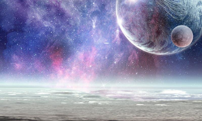Pluton planeta Mieszani środki zdjęcie stock