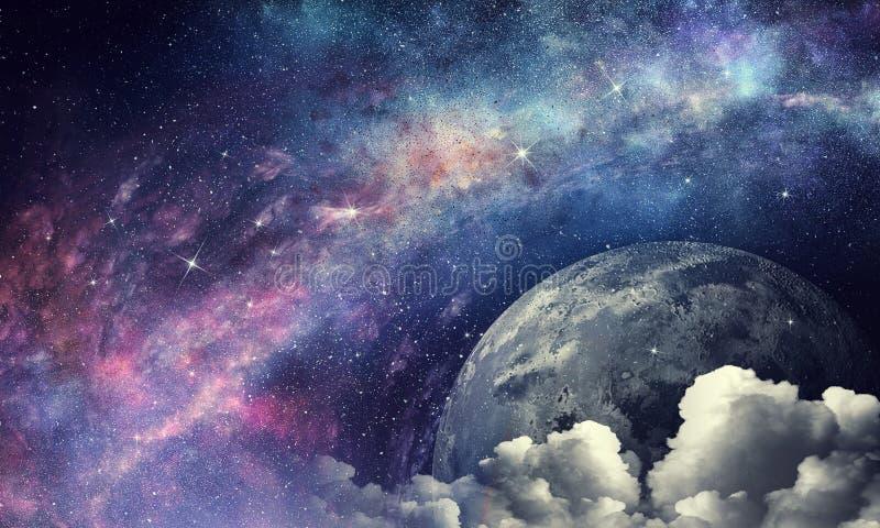 Pluton planeta Mieszani środki zdjęcia stock