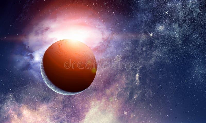 Pluton planeta Mieszani środki obraz royalty free