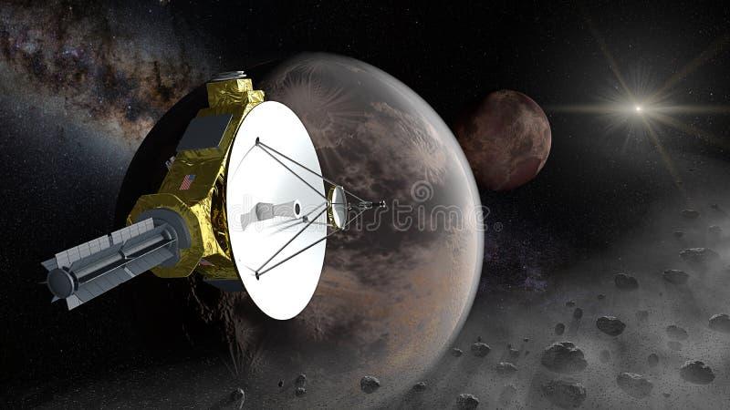 Plutone di parata aerea di New Horizons nella fascia di Kuiper fotografia stock libera da diritti
