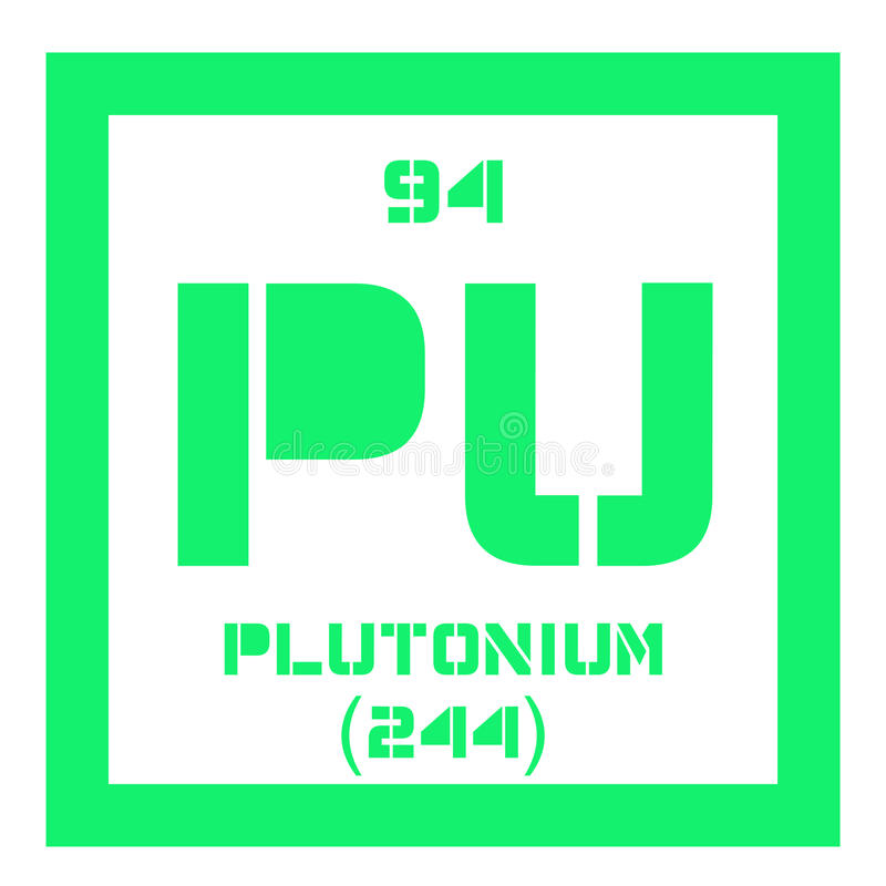 Plutonium chemisch element royalty-vrije illustratie