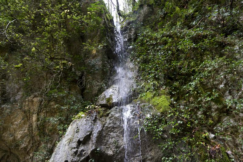 Pluvial vattenfall arkivfoton
