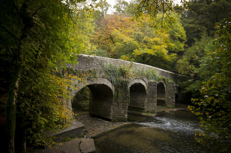 Plym Bridge ,River Plym , Plym Valley ,Dartmoor. Plym Bridge River Plym , Plym Valley ,Dartmoor national park on the outskirts of plymouth devon royalty free stock image